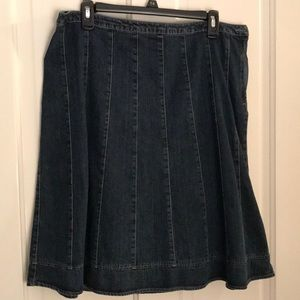 Sonoma A-Line Jean Skirt Size 14